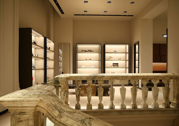 Lighting project for flagship boutiques